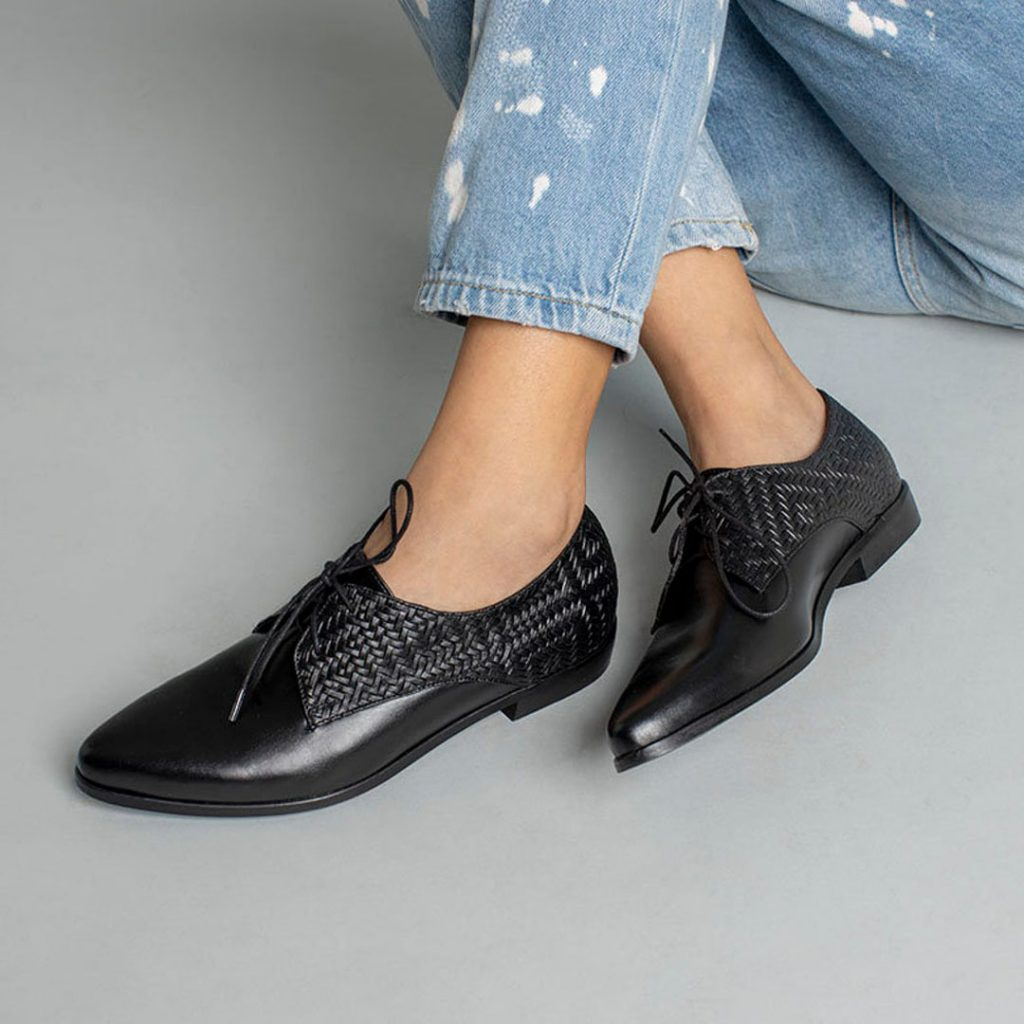 Katz and Birds black leather oxford shoes