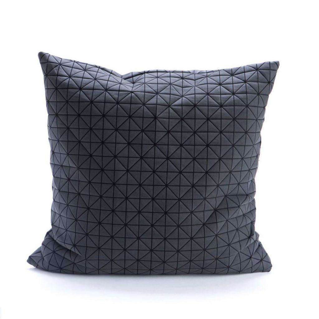 Mika Barr black origami designer pillow