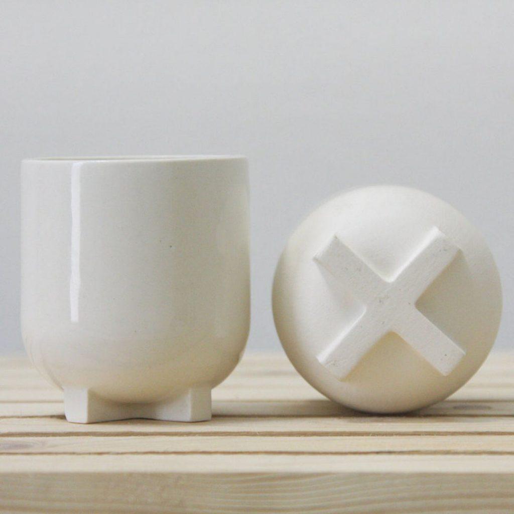 One and Many ceramic espresso cup with glossy glaze