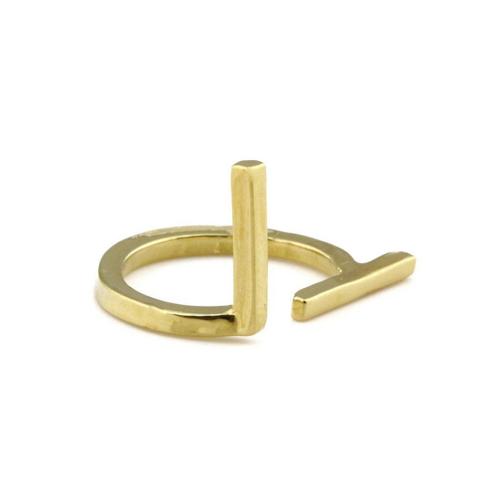 SHIZING asymmetric ring