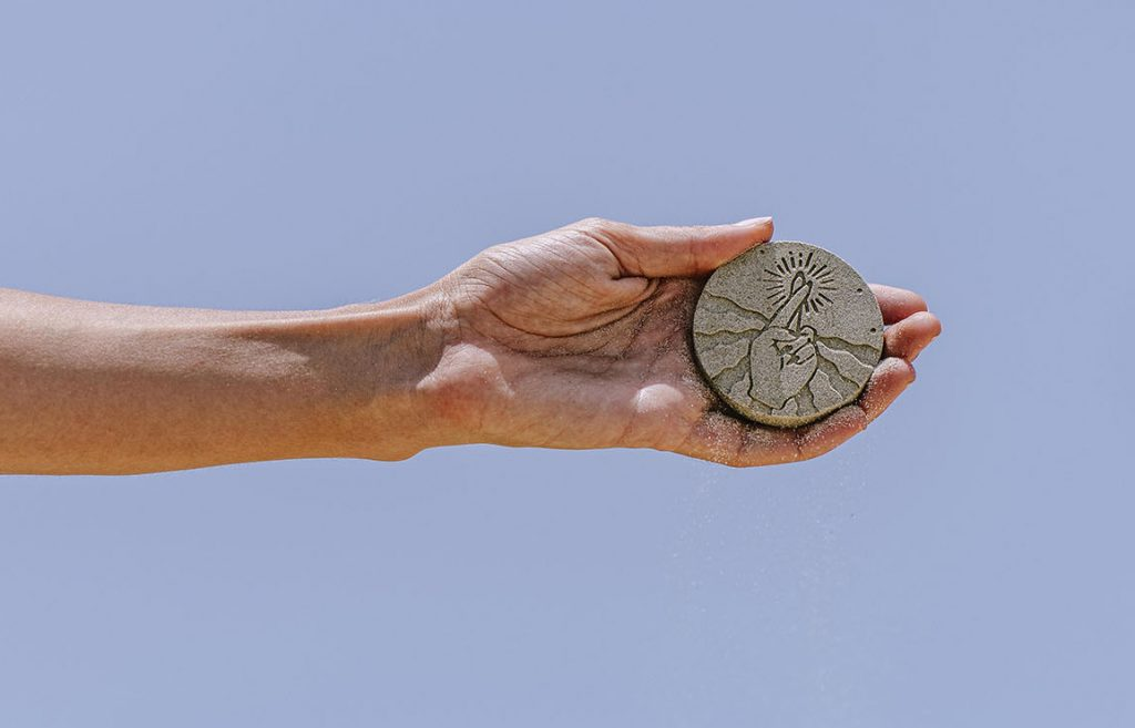 sand to sand. lucky coins made out of sand by bar cohen. // via: design break blog
