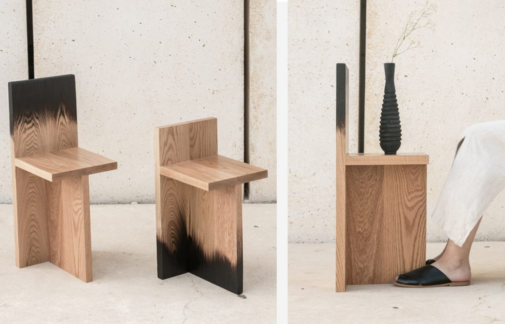 burnt. wooden objects by daniel elkayam. inspired by the wildfires. // via: design break blog