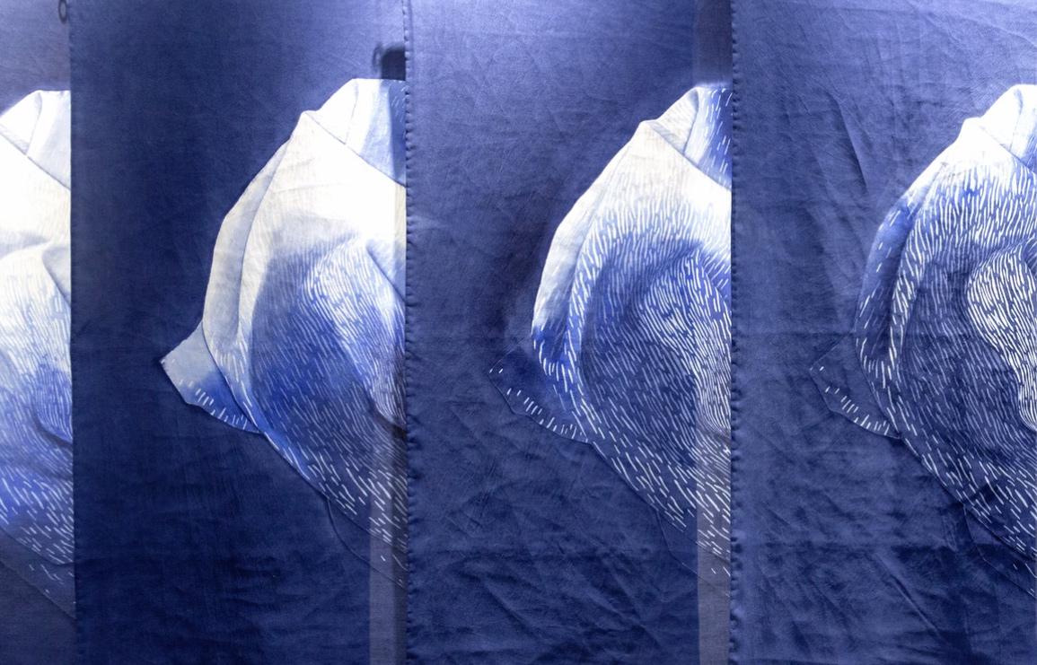 yael harnik's japanese inspired textiles. // via: design break blog