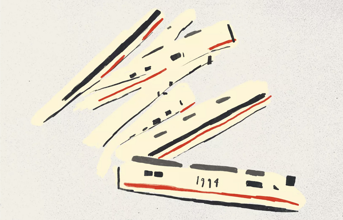 come on already. cookie moon's series of illustrated trains. // via: design break blog