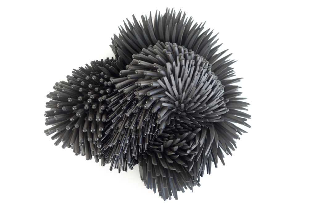zemer peled's porcelain shards are turned into massive sculptures. // via: design break blog