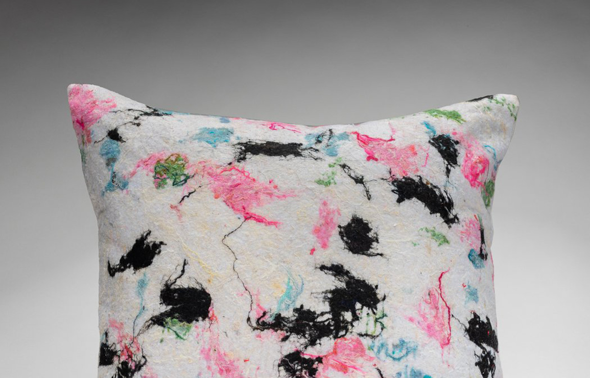 city growth pillow collection. dana cohen's collection of 100% recycled textile made of textile waste. // via: design break blog