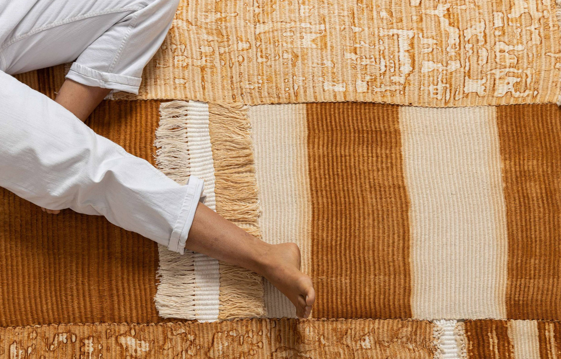 rust. a collection of handwoven home textiles, infused with rust, which serves as a natural dye. designed by tamar dgani. // via: design break blog